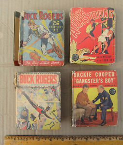 Lot of 4 Buck Rogers Jack Armstrong Cooper Big Little Book 25th Century A D 1933