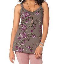 Geblümte Damenblusen,-Tops & -Shirts im Trägertops-Stil mit Spitze für Freizeit