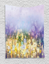 Floral Tapestry Idyllic Pastoral Flower Print Wall Hanging Decor