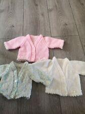 Hand Knitted Joblot Bundle Baby Girls Cardigans Premature