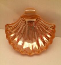 Vintage Sea Shell Dish Peach Lustre White Base/Trinkets, Jewelry, or Soap Dish