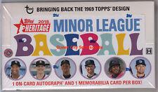 2018 Topps Heritage Minor League Baseball Factory Sealed Hobby Box