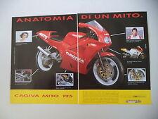 advertising Pubblicità 1991 MOTO CAGIVA MITO 125 e EDDIE LAWSON
