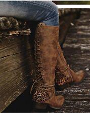 Leopard Print Knee Boots