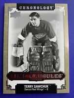 2018-19 Upper Deck Chronology Time Capsules #TC-23 Terry Sawchuk Detroit OPENED
