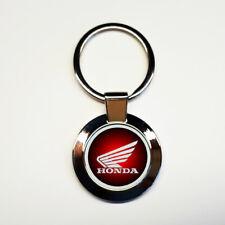 Porte-clés acier inoxydable rond Honda