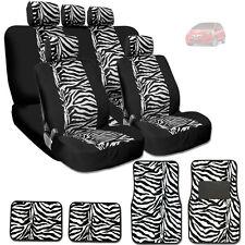 NEW PREMIUM BLACK MESH ANIMAL ZEBRA TIGER PRINT CAR SEAT COVERS MATS FOR HONDA