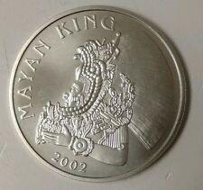 2002 Belize Large  Silver $1 Mayan King