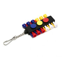 1pc plastic golf tee holder carrier ball tees with 3 ball markers accessories HD