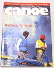 CANOE Magazine June 1986 including Wilderness Adventures, Hawaiian Canoe Race...
