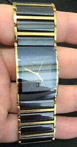Rado - DiaStar - 152.0787.3 Unisex Watch Gold and Black Titanium Ceramic