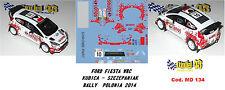 DECAL  1/43 -  FORD  FIESTA WRC  -  KUBICA - Rally Polonia   2014
