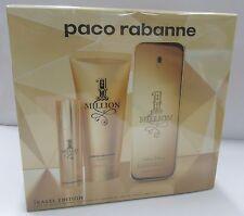 Paco Rabanne 1 MILLION EDT 100ml + Gel Douche 100ml + Voyage 10ml NEUF COFFRET