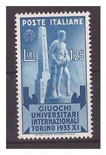 REGNO 1933 - GIOCHI  UNIVERSITARI  Lire 1,25   NUOVO *