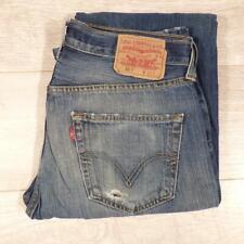 """Mens Blue Stonewashed LEVI 501 33""""W 36""""L Vintage Levis Denim Jeans 501s #F3266"""