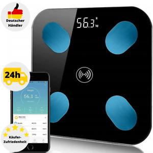 Körperfettwaage LCD Körperwaage Körperanalysewaage Personenwaage Bluetooth APP