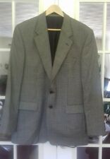 Mens Dogtooth Check Jacket Blazer Size UK 42L Burtons