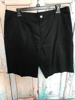 Mens Adidas Golf Clima Cool Shorts Size 34 Black Flat Front Casual Athletic F3