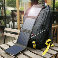 Suaoki Outdoor 14W Foldable USB Port Solar Panel Battery Charger for iPhone iPad