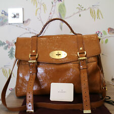 ab07998a9a5b Mulberry Alexa Oversized in Patent Oak Leather Satchel Tote Handbag