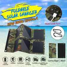 Folding 50W Solar Panel Sun Power Outdoor Solar Cells Charger 5V 3A USB Output