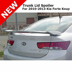 For: 10-13 Kia Forte ABS Trunk Rear Wing Spoiler Unpainted Smooth Primer