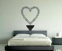 Gift Wall Vinyl Sticker Decals Mural Design Heart Music Notes Flower Pot #396