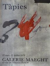 Détails sur  Antoni TÀPIES (1923-2012) Affiche Lithographie Galerie Maeght