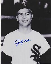 "CIRCA 1950'S JOHNNY CALLISON AUTOGRAPHED 8"" X 10"" B/W PHOTO CHICAGO WHITE SOX"