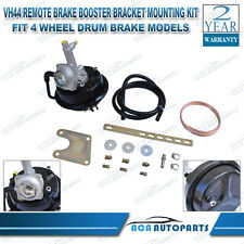 VH44 Remote Brake Booster + Bracket Mounting Kit - 4 wheel Drum Brake Models