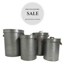* Vendita * 38 cm Zinco a pieghe Bin/metallo/archiviazione/Container/Casa/Giardino