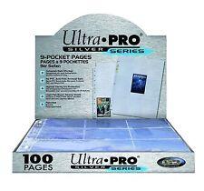 Ultra Pro Silver Series (100) 9 Pocket Page Protectors,New,baseball football nba