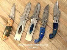 COMBO KNIFE SALE DAMASCUS STEEL FOLDING KNIFE SALE 5 PC LOT SALE POCKET KNIVES