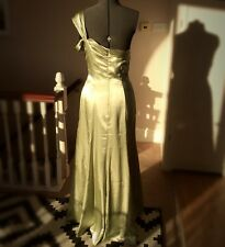 Long Green dress SIZE 12 Bridemaid Prom Vintage 1920s Hollywood glamour ghost