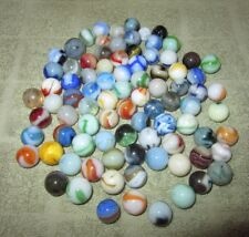 Lot of 87 Mostly Vintage Marbles Assorted Swirl  Marbles One Lot  H