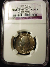 Errors in Year:1981, Coin:Washington Quarter | eBay