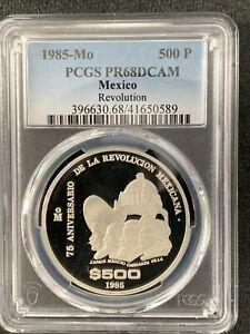 Mexico 1985-Mo 500 Peso / Revolution / PCGS PR68DCAM / Beautiful &*No Reserve!