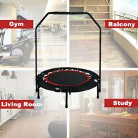 "40"" Foldable Mini Trampoline Gym Exercise Fitness Rebounder Load Handrail"