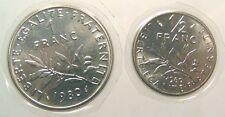 ~~ Roty: Semeuse - 1 Franc et  1/2 Franc 1980 FDC   ~~