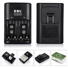 4 Slot Rapid Battery Charger for AA/AAA Ni-MH 9V Ni-CD Rechargeable Batteries US
