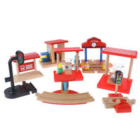 Rail Traffic Lights Wooden Track Magnetic Train Accessories Compatible withTraJC