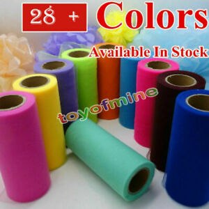 """6""""x 25YD Tulle Roll Tutu Wedding Party Gift Wrap Fabric Craft Decorations"""