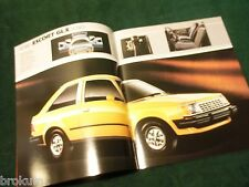"MINT ORIGINAL 1982 FORD ESCORT SALES BROCHURE 11"" X 9"" (BOX 750)"