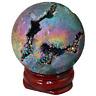 SUNYIK Gold/Purple Titanium Coated Druzy Geode Sphere Ball,Crystal SUNGDV001403