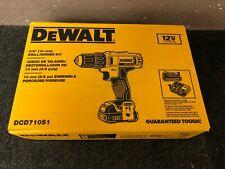 DEWALT DCD710S1 12V MAX Li-Ion 3/8 in. Keyless Chuck Drill Driver Kit New