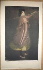 Henry Detouche. Aquatinte - La Tortojada. Numérotée 1/40. Vers 1895.