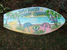 TROPICAL DECORATIVE CUSTOM PERSONALIZED BOOGIE WOOD  BEACH POOL SURFBOARD SIGN