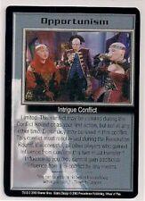 Babylon 5 Ccg Wheel of Fire Rare Opportunism Nm