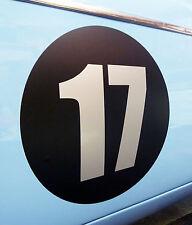 CLASSIC VINTAGE CAR RACE RALLY NUMBERS 30cm PAIR MG MGA MGB TRIUMPH BLACK DISC