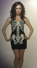 New lady's skeleton tank women female costume party/halloween